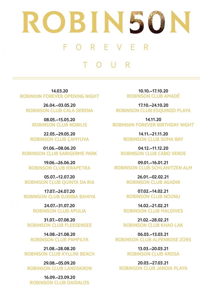 ROBINSON wird 50   feiert mit einem Superstar! tui hotels strand sonne news portugal griechenland angebot  Tourdaten 724x1024