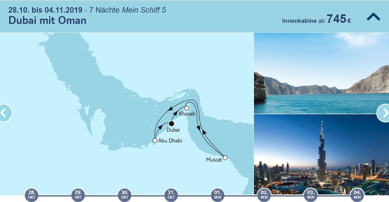 Mein Schiff Mittelstrecken  Angebote bei TUI Cruises tui cruises sonne kreuzfahrt angebote und specials angebot  tui berlin tuicruises dubai mit oman 1