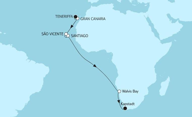 TUI Berlin, Reisen, Angebote der Woche, TUICruises, Mein Schiff, Südafrika, Namibia, Kapstadt, Port Elizabeth, Walvis Bay, Safari, Kreuzfahrt, Afrika, Big 5