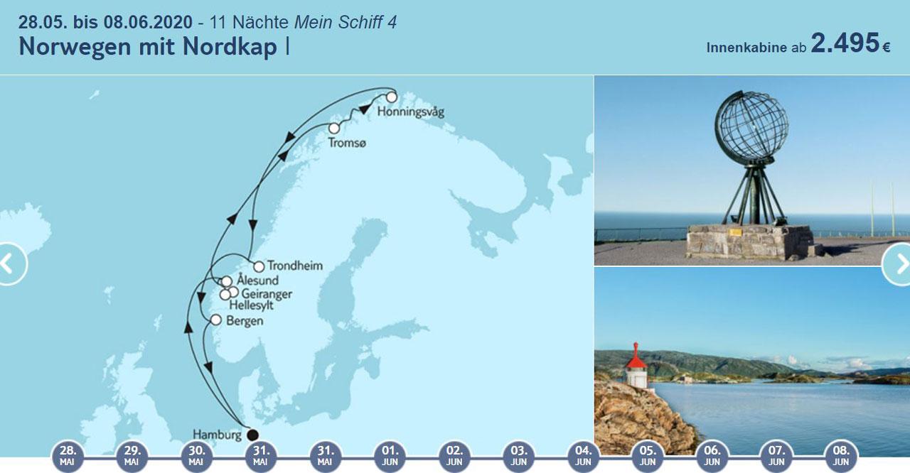 TUI Cruises Angebote der Woche, Norwegen Kreuzfahrt - World of TUI Berlin