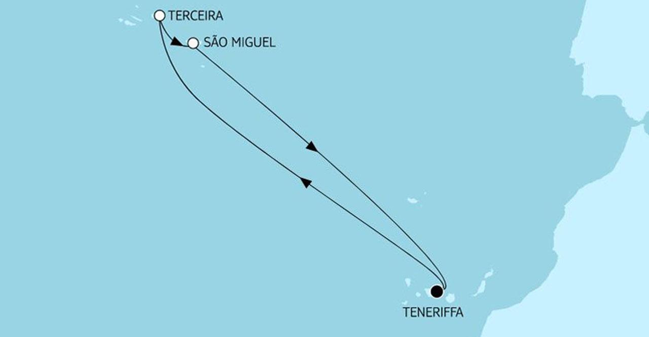 TUI Cruises Angebote der Woche Azoren Route