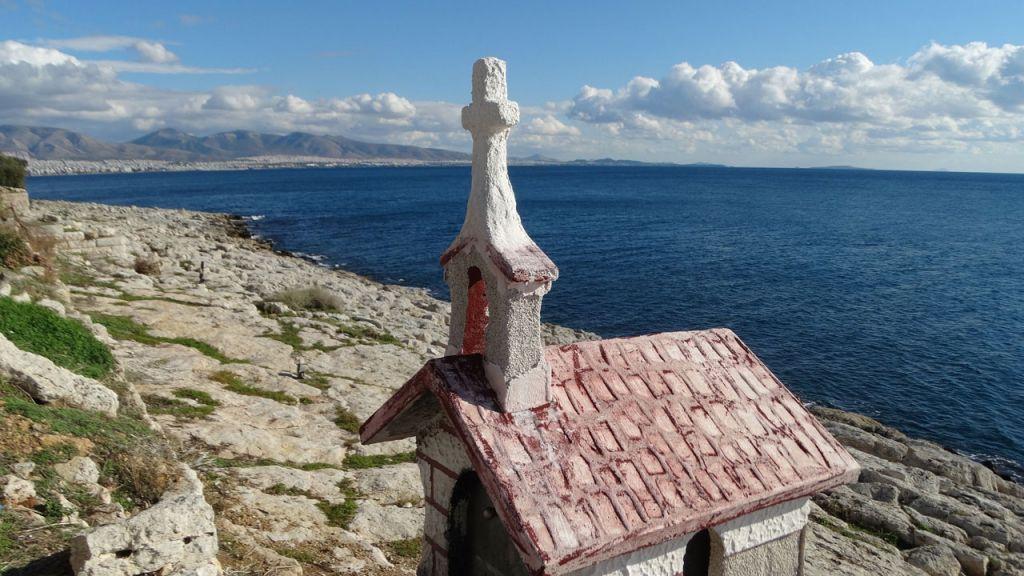 Blick aufs Meer im Umland von Athen