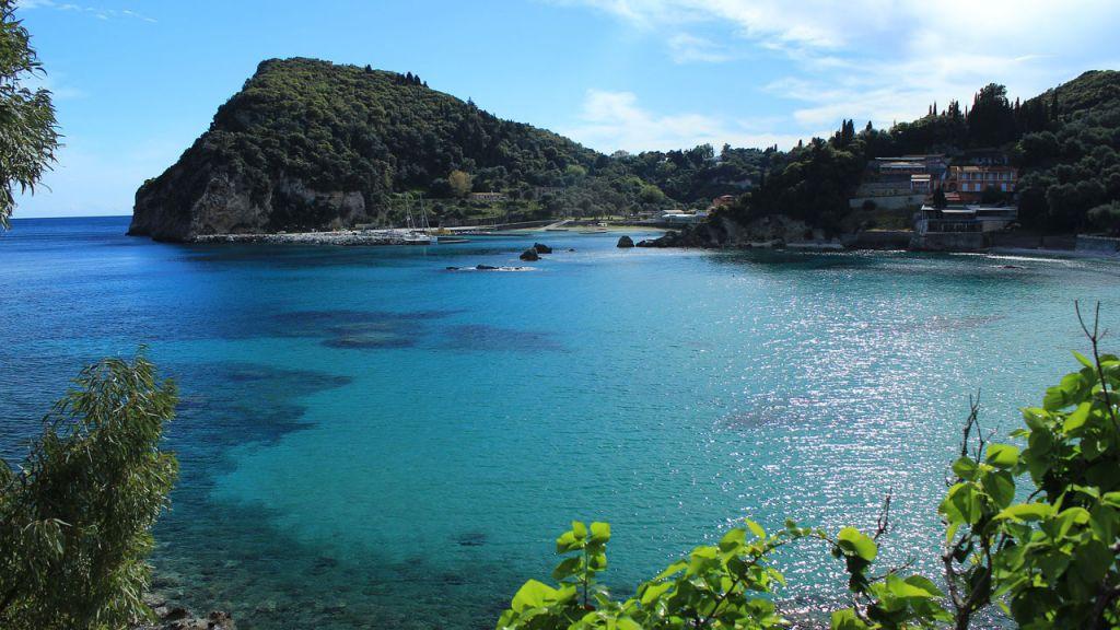 Bucht auf der Insel Korfu