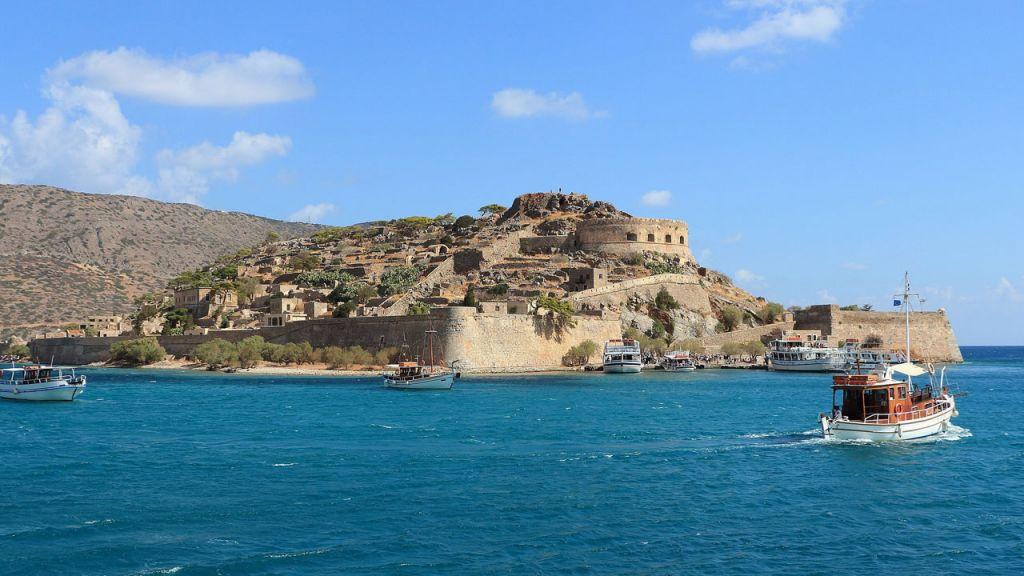 Festung an der Küste Kretas