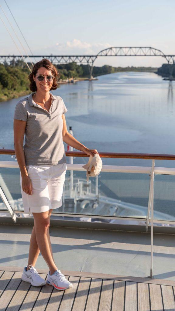 Michaela Gregor an Bord der MS Europa 2