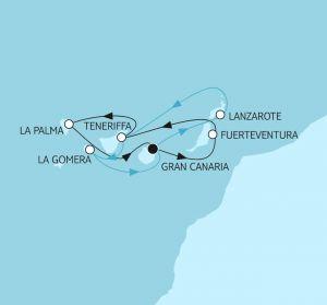 TUI Cruises Mein Schiff 2 Blaue Reise Kanaren