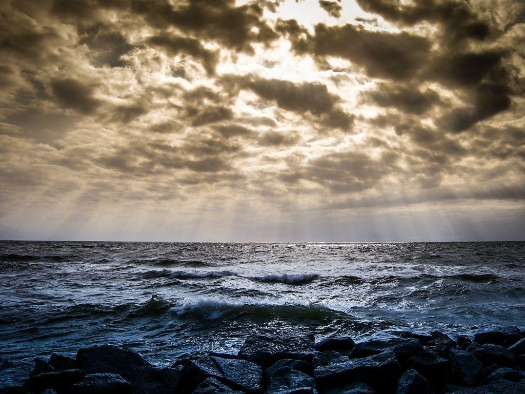 Offenes Meer in der Ostsee