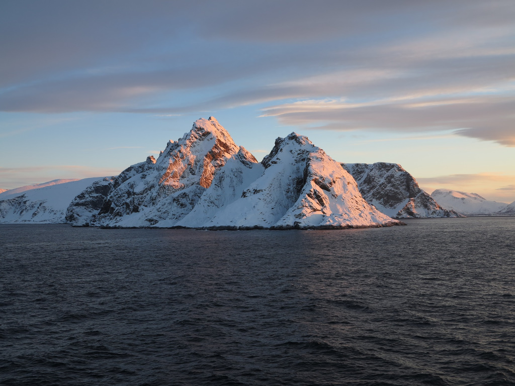 verschneite Landschaft in Lappland