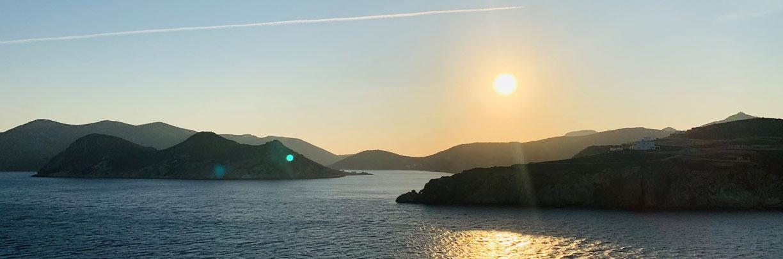 TUICruises, Mein Schiff, Blaue Reise, griechische Inseln, Sonnenuntergang