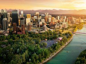 Luftansicht von Calgary