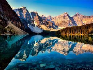 Lake Moraine in Alberta, Kanada