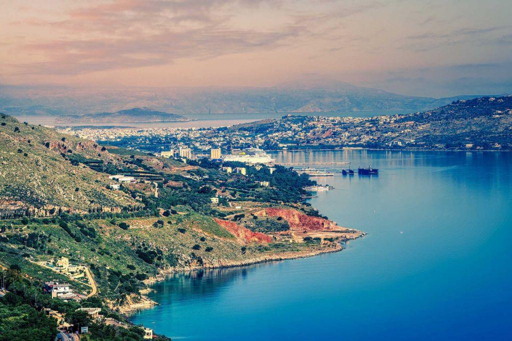 Hafenstadt auf Kreta