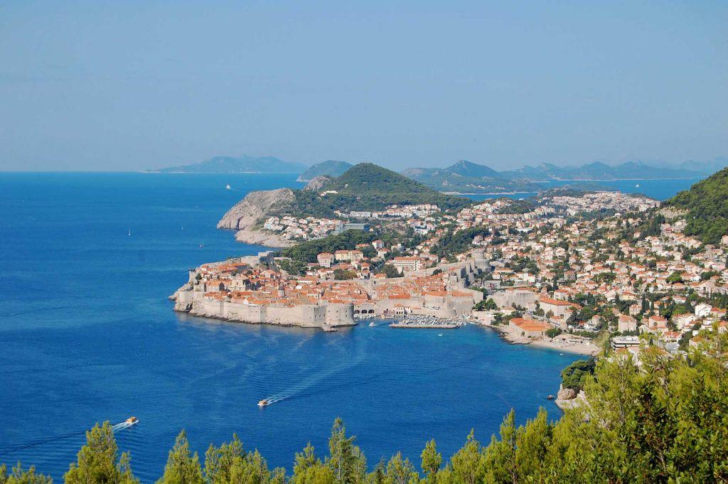 Dubrovnik aus der Ferne