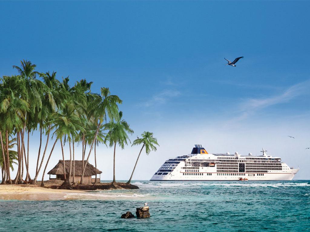MS EUROPA 2 bei den San-Blas Inseln, Panama