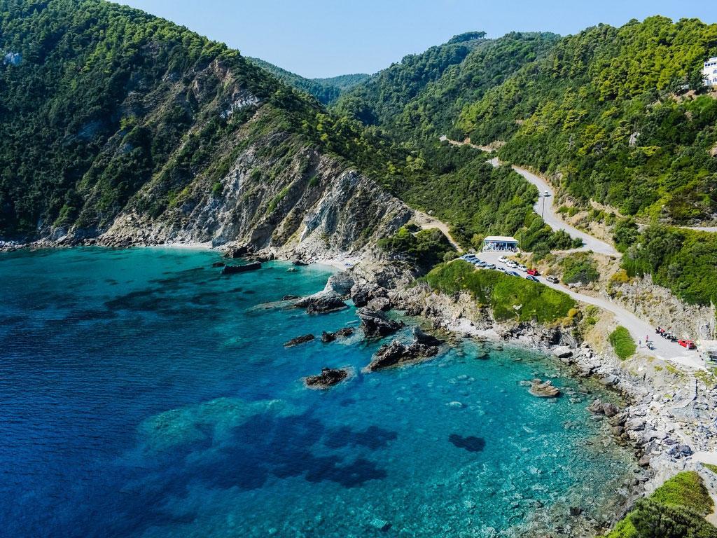 Malerische Küste in Griechenland
