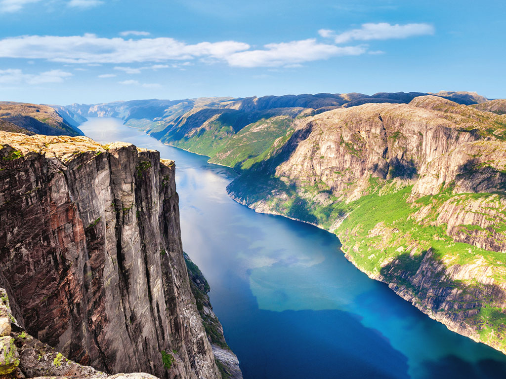Atemberaubender Fjord in Norwegen