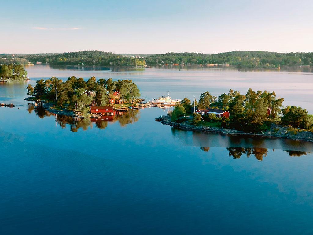 Kleine Inseln in der Ostsee