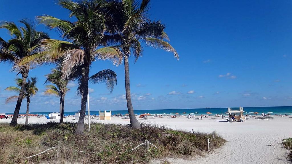 Florida. Sunshine State mit Corvette und Sunshine. usa sonne karibik mittelamerika  South Beach 1024x576