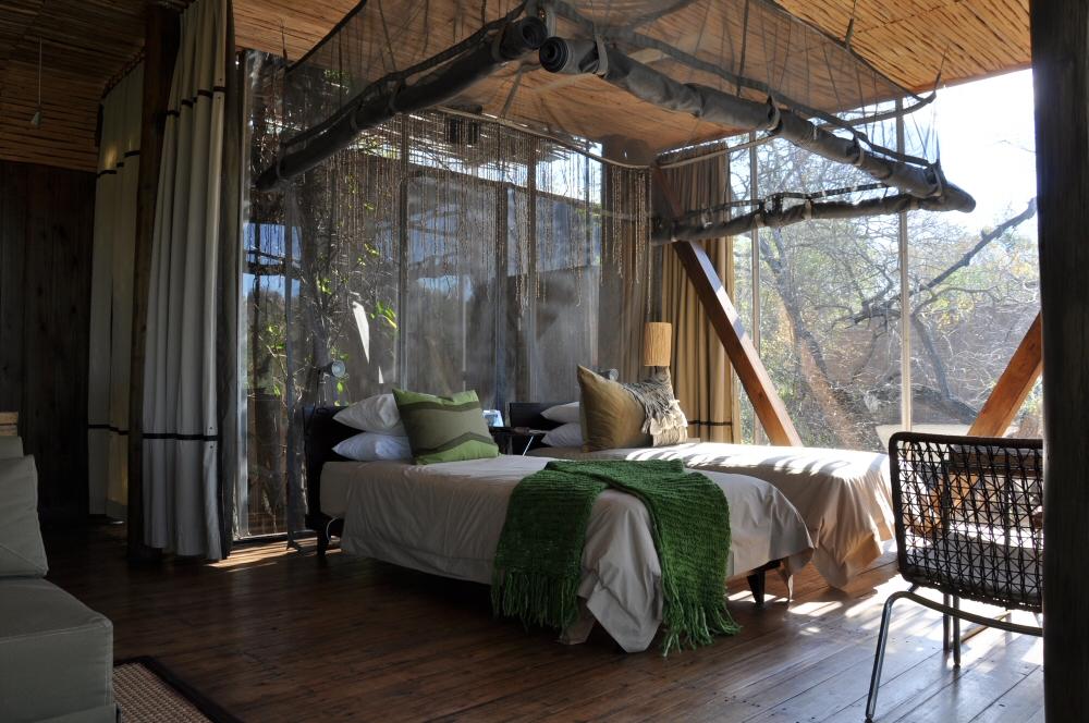 Singita Lebombo & Sweni Lodges suedafrika sonne safari afrika  bett1